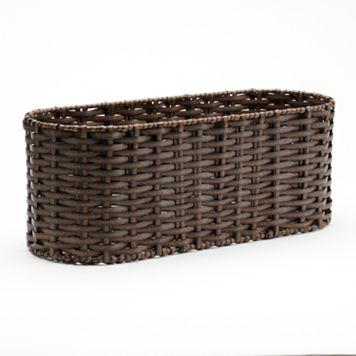Home Classics® Woven Wicker Tank Topper Basket