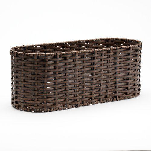 SONOMA Goods for Life™ Woven Wicker Tank Topper Basket