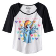 My Little Pony Rainbow Hearts Raglan Tee - Girls 7-16