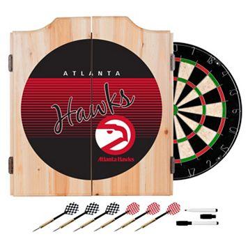 Atlanta Hawks Hardwood Classics Wood Dart Cabinet Set