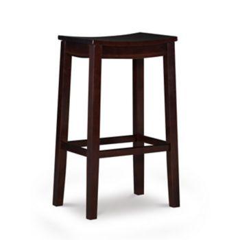 Linon Allure Wood Bar Stool