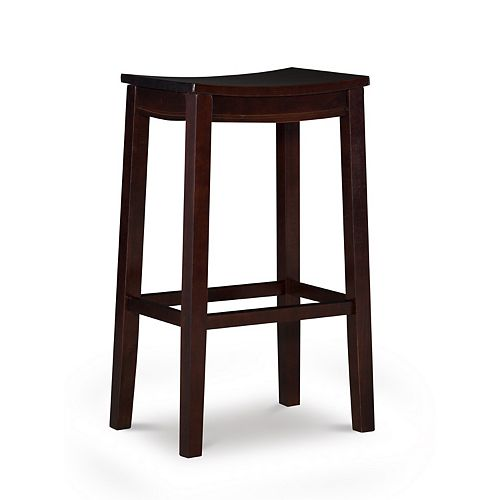 Linon Allure Wood Bar Stool