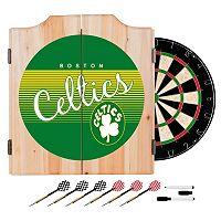 Boston Celtics Hardwood Classics Wood Dart Cabinet Set