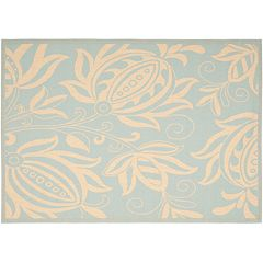 Safavieh Courtyard Floral Indoor Outdoor Patio Rug
