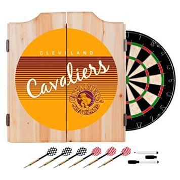 Cleveland Cavaliers Hardwood Classics Wood Dart Cabinet Set