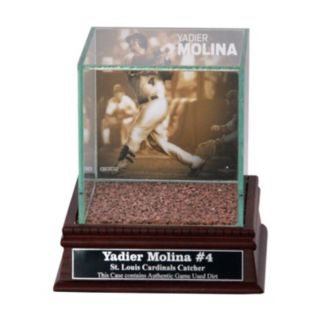 Steiner Sports St. Louis Cardinals Yadier Molina Single Baseball Display Case with Authentic Field Dirt