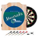 Dallas Mavericks Hardwood Classics Wood Dart Cabinet Set