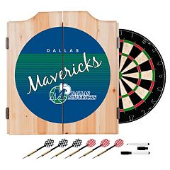 Dallas Mavericks Hardwood Classics Wood Dart Cabinet Set