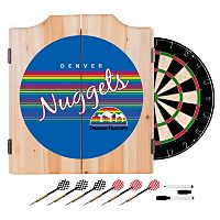 Denver Nuggets Hardwood Classics Wood Dart Cabinet Set
