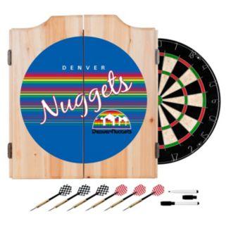 Denver Nuggets Hardwood Classics Wood Dart Cabinet Set