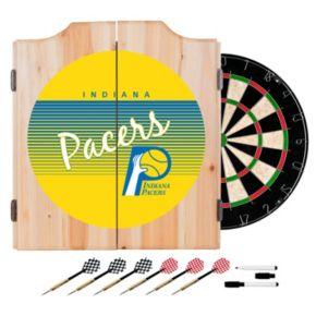 Indiana Pacers Hardwood Classics Wood Dart Cabinet Set