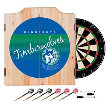 Minnesota Timberwolves Hardwood Classics Wood Dart Cabinet Set