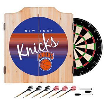 New York Knicks Hardwood Classics Wood Dart Cabinet Set
