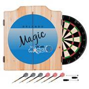 Orlando Magic Hardwood Classics Wood Dart Cabinet Set