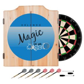 Orlando Magic Hardwood Classics Wood Dart Cabinet Set