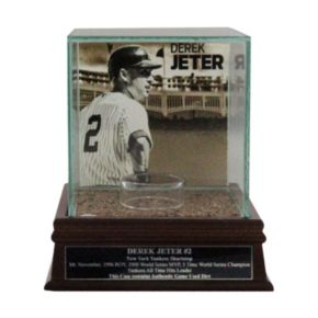 Steiner Sports New York Yankees Derek Jeter Single Baseball Display Case with Authentic Field Dirt