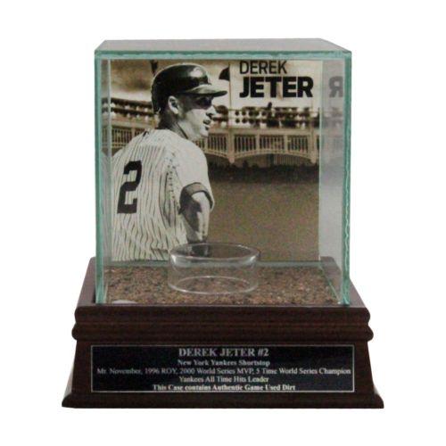 Steiner Sports New York Yankees Derek Jeter Single Baseball Display Case with Authentic Field Dirt
