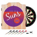 Phoenix Suns Hardwood Classics Wood Dart Cabinet Set