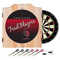 Portland Trail Blazers Hardwood Classics Wood Dart Cabinet Set