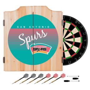 San Antonio Spurs Hardwood Classics Wood Dart Cabinet Set