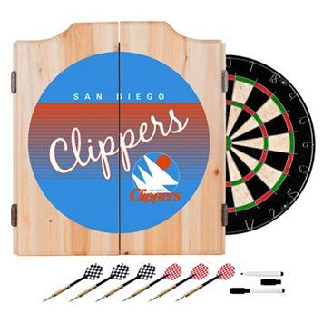 San Diego Clippers Hardwood Classics Wood Dart Cabinet Set