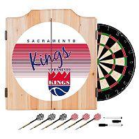 Sacramento Kings Hardwood Classics Wood Dart Cabinet Set