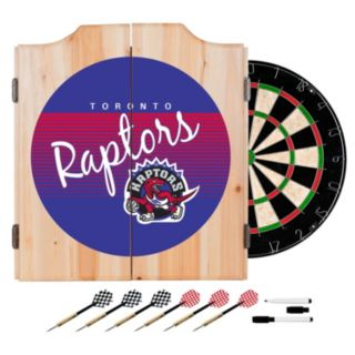 Toronto Raptors Hardwood Classics Wood Dart Cabinet Set