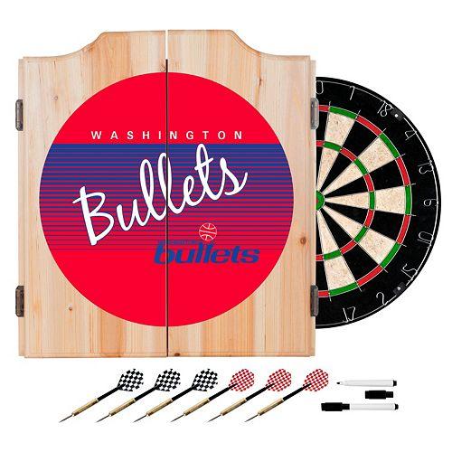 Washington Bullets Hardwood Classics Wood Dart Cabinet Set