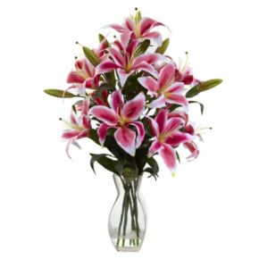 nearly natural Rubrum Lily Arrangement