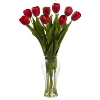 nearly natural 24-in. Tulip Arrangement