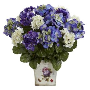 nearly natural Mixed Hydrangea Floral Arrangement