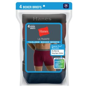 Big & Tall Hanes 4-pack Dyed Boxer Briefs