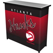 Atlanta Hawks Hardwood Classics 2-Shelf Portable Bar with Case