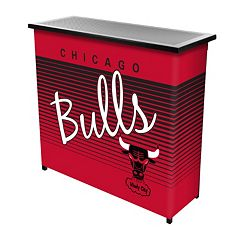 Chicago Bulls Hardwood Classics 2-Shelf Portable Bar with Case