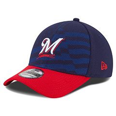 Youth New Era Milwaukee Brewers Stars & Stripes 4th of July 39THIRTY Stretch-Fit Cap