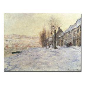 Trademark Fine Art ''Lavacourt Under Snow 1878-81'' Canvas Wall Art by Claude Monet