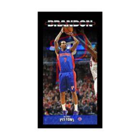 "Steiner Sports Detroit Pistons Brandon Jennings 10"" x 20"" Player Profile Wall Art"