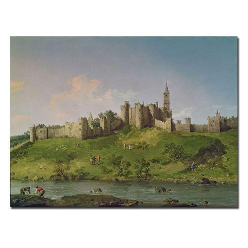 Trademark Fine Art ''Alnwick Castle'' Canvas Wall Art