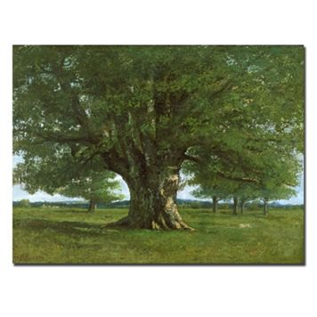 Trademark Fine Art ''The Oak of Flagey'' Canvas Wall Art