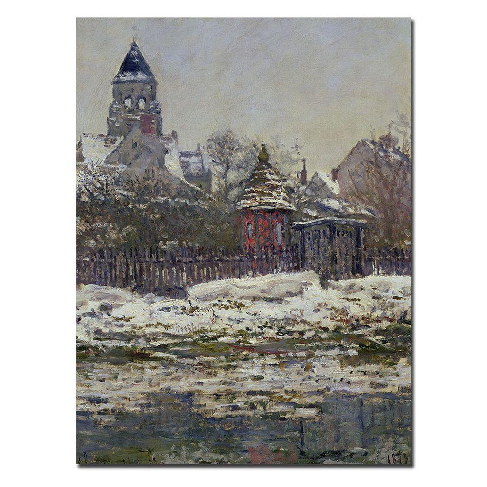 Trademark Fine Art ''The Church at Vetheuil 1879'' Canvas Wall Art by Claude Monet