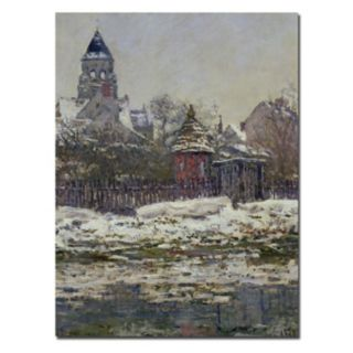 Trademark Fine Art ''The Church at Vetheuil 1879'' Canvas Wall Art by Claude Monet