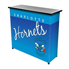 Charlotte Hornets Hardwood Classics 2-Shelf Portable Bar with Case