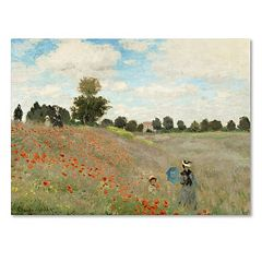 Trademark Fine Art ''Wild Poppies Near Argenteuil'' Canvas Wall Art by Claude Monet