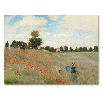 Trademark Fine Art ''Wild Poppies Near Argenteuil'' Canvas Wall Art by Claude Monet