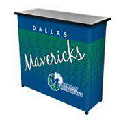 Dallas Mavericks Hardwood Classics 2-Shelf Portable Bar with Case