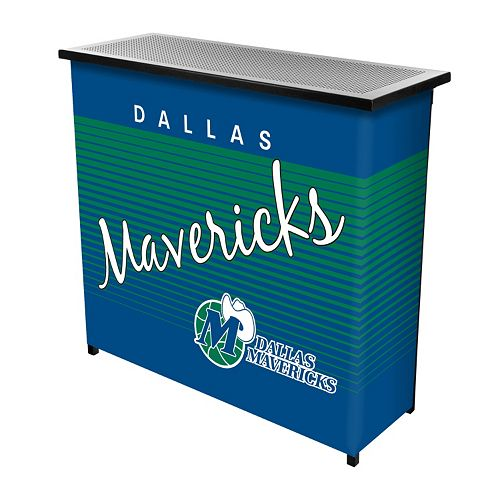 Dallas Mavericks Hardwood Classics 2-Shelf Portable Bar with Case
