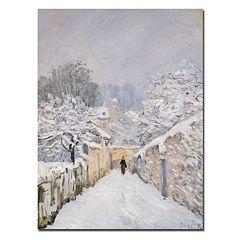 Trademark Fine Art ''Snow at Louveciennes 1878'' Canvas Wall Art
