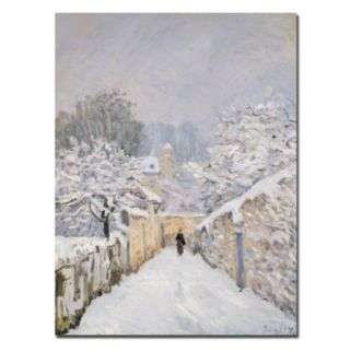 Trademark Fine Art ''Snow at Louveciennes 1878'' Canvas Wall Art