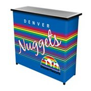Denver Nuggets Hardwood Classics 2-Shelf Portable Bar with Case