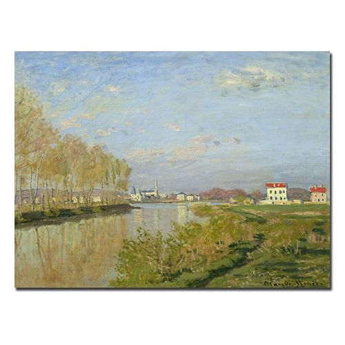 Trademark Fine Art ''The Seine at Argenteuil 1873'' Canvas Wall Art by Claude Monet